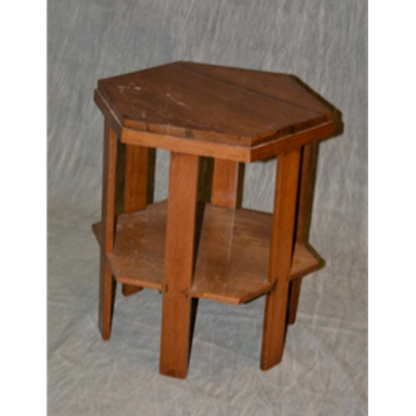Teakwood, hexagonal, occasional table 