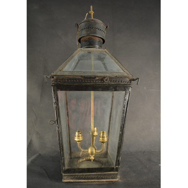 ENGLISH - PAINTED IRON LANTERN