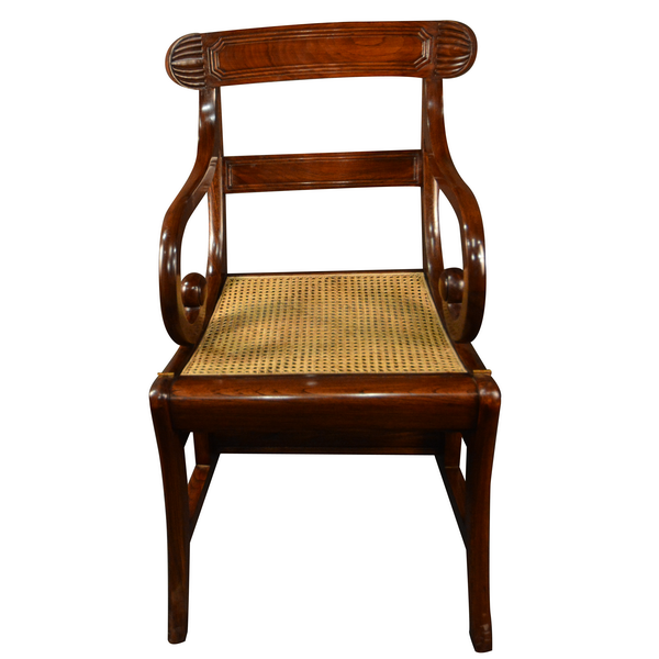 Merveilleux British Colonial   Metamorphic Chair With Rattan Seat