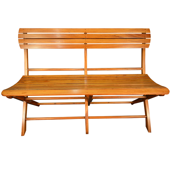 British Colonial, Satinwood, Folding Bench. Of Great Elegance.