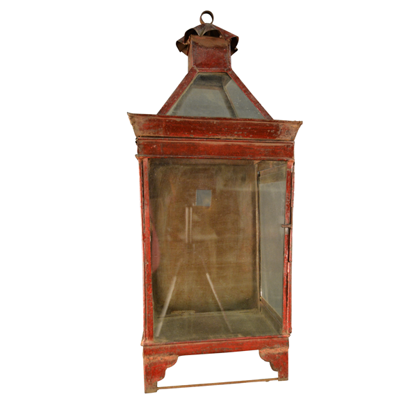 English - Iron Painted Lantern    